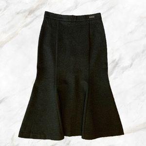 Pink Tartan | Grey Midi Flair Pencil Skirt